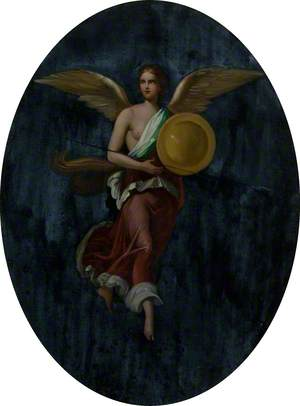 Winged Victory with Shield and Spear