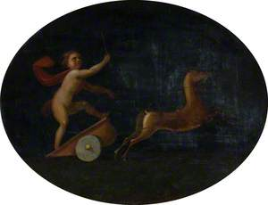 Putto Driving a Chariot Pulled by Deer