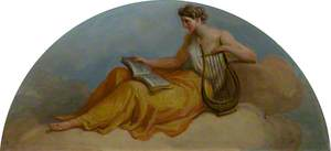 Female Figure with a Lyre and Book