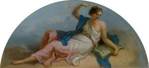 Female Figure with a Book, Gesturing