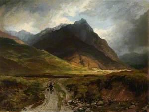 Samuel Bough Mountain Valley with a Drover