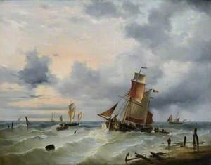 Belgian Vessels in a Stiff Breeze