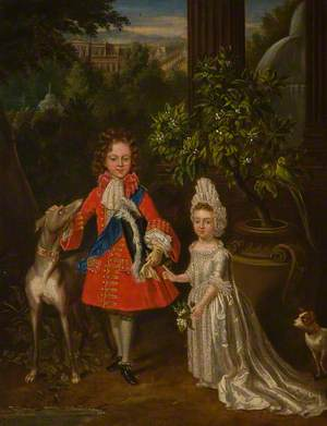 Prince of Wales with His Sister, Louise Marie