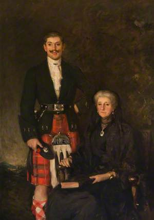 Lord Ninian Crichton-Stuart (1883–1915), and his Mother, the Marchioness of Bute