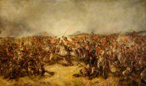 The Scots Greys at Waterloo
