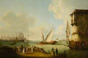 Port of Leghorn with a Half Galley of the Grand Duke of Tuscany Putting Out to Sea