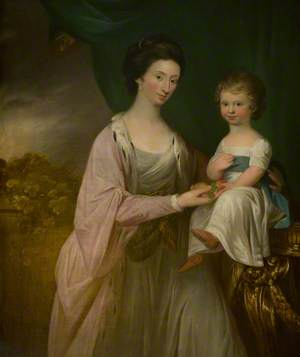 Helen Stewart, Later Mrs Colt of Auldhame, and Her Son, Adam