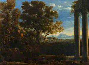 Italianate Landscape with a Ruined Temple