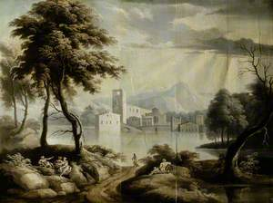 Landscape with a Lake and Building*