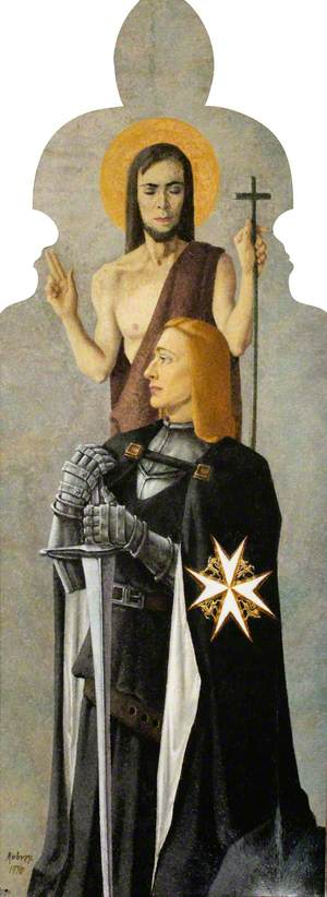 Saint John the Baptist with a Kneeling Knight of the Order of Saint John