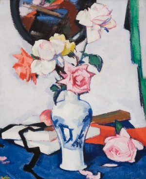 Still Life with Roses and a Mirror