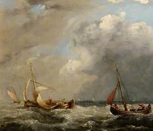 Fishing Boats in Rough Seas