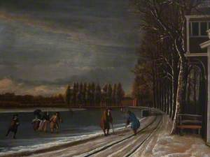 Winter Landscape with Men Playing Kolf