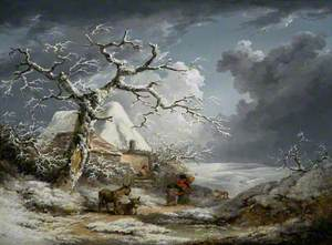 Winter Landscape with Peasants and Donkeys