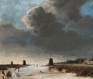 Winter Landscape with a Frozen River