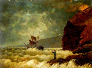 The 'Ellen' of Middlesbrough, Tees Valley, Wrecked off Scarborough, 26 October 1869