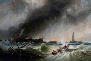 William and Grace Darling Returning with the SS 'Forfarshire' Survivors