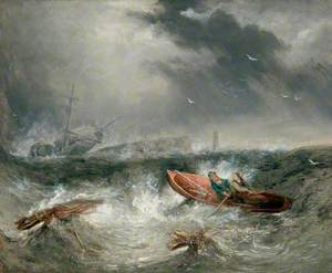 William and Grace Darling Going to the Rescue of the SS 'Forfarshire'