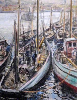 Belgian Fishing Boats at Newlyn, Cornwall