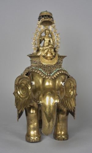Shiva Riding a Golden Elephant