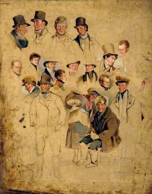 Caricatures from 'The Cullercoats Party'