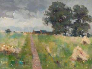 Landscape with a Path and Haystacks*