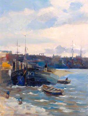 Harbour with a Large Boat*