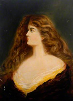 Portrait of a Lady with Long Hair*