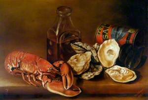 Still Life with Lobster, Oysters and Pickles