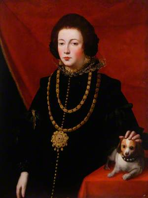 Portrait of a Lady with a Small Dog