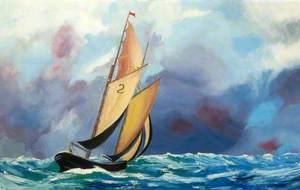 Yacht in a Choppy Sea*