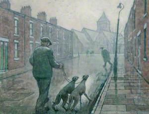 Edward Street, Man Walking Dogs