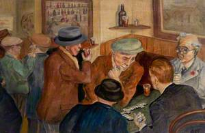 The Bar, Playing Dominoes