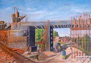 Building the New Bridge at Woodhorn, Northumberland