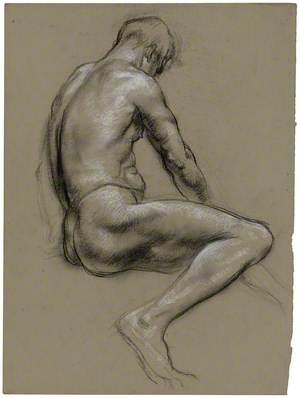 Dyn Noeth yn Eistedd / Seated Male Nude