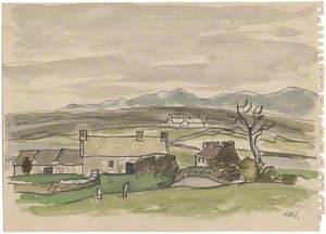 Y Mynyddoedd o Lannerch-y-medd / Mountains from Llannerch-y-medd