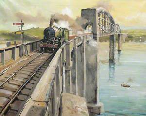 Steam Train over a Brunel Bridge