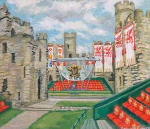 Interior of Caernarfon Castle (Investiture, 1969)