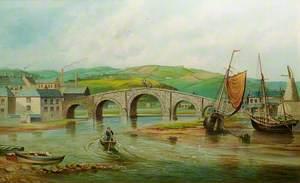 Trefechan Bridge before the Flood of 1886