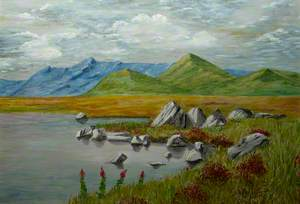 Landscape including a Lake and Mountains