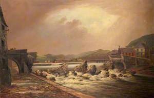 Trefechan Bridge Immediately after the Flood of 1886