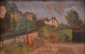 Village Scene with Gate, Ferryside (?)