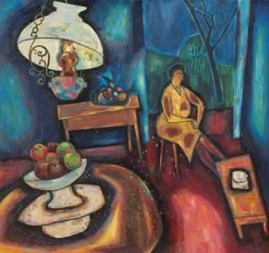 Woman in Lamplight (2)