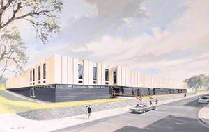 Concept Painting of County Library