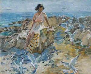 Girl and Seagulls