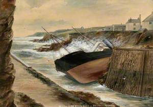 The Wreck of the SS 'Black Rock' in Amlwch Harbour