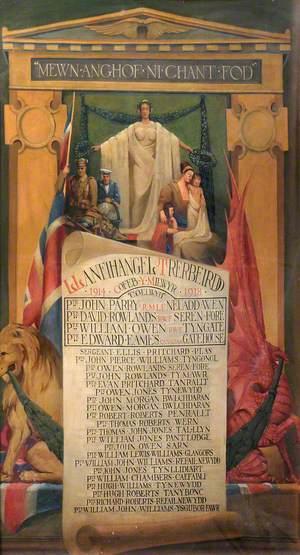 Cofeb Rhyfel Mawr Llanfihangel Tre'r Beirdd / Great War Memorial Llanfihangel Tre'r Beirdd