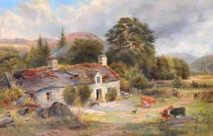 Cottage Landscape with Cattle, North Wales