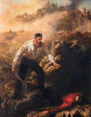 Corporal Robert Shields Winning His VC at Sebastopol, 1855