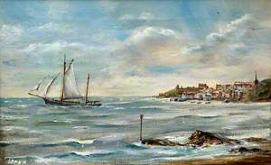 Trawler out of Tenby in a South West Wind, c.1895